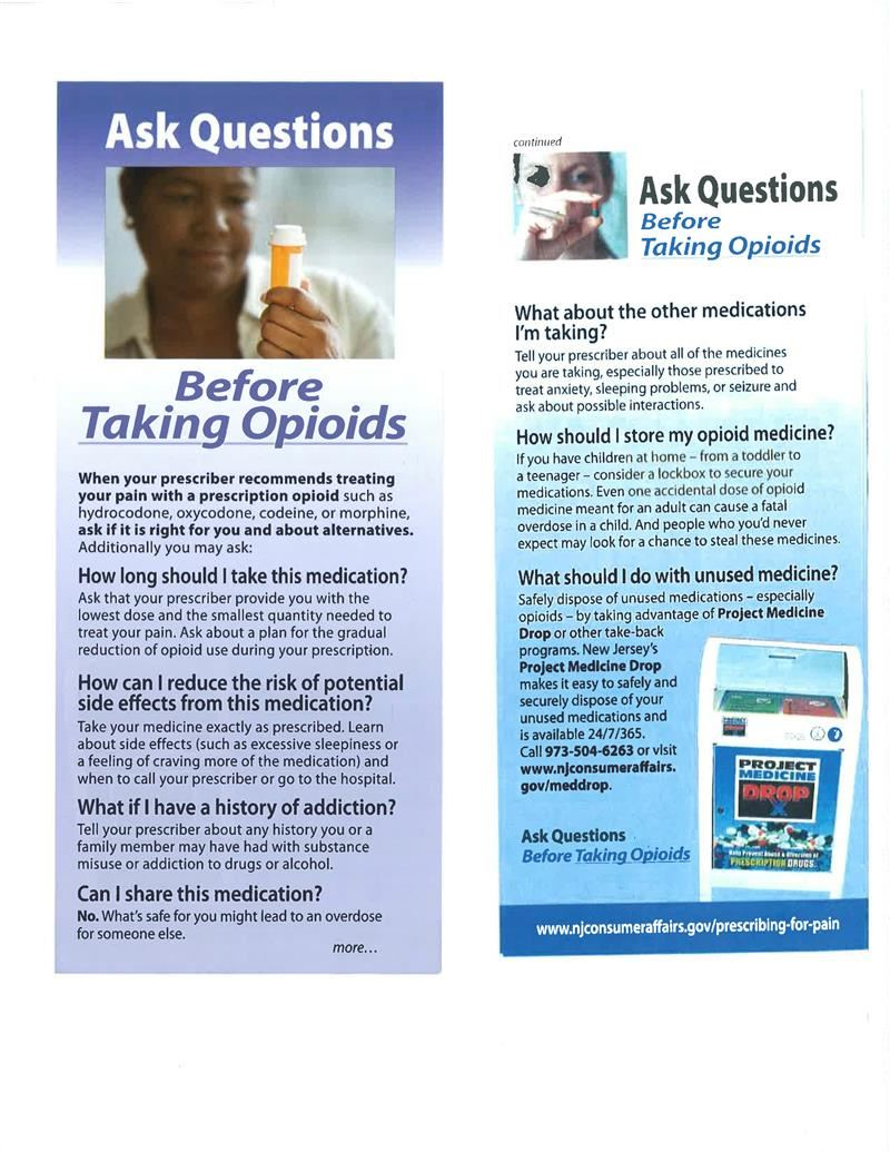 Ask Questions Before taking Opiodsi